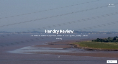 An image of the front page of the Hendry Review website